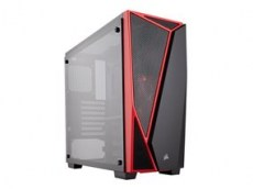 Κουτί Corsair SPEC-04 Black-Red Tempered