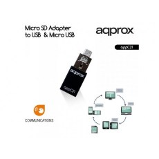 ΜΕΤΑΤΡΟΠΕΑΣ APPROX MICRO SD to USB & MICRO USB