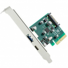 GEMBIRD 2-PORT USB 3.1 PCI-EXPRESS ADD-ON CARD (TYPE-A + TYPE-C), WITH EXTRA LOW PROFILE BRACKET