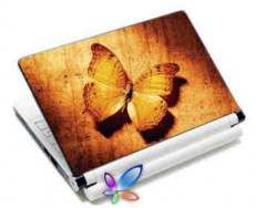 LAMTECH 9.2-12.4 LAPTOP SKIN ORANGE BUTTERFLY