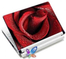 LAMTECH 9.2-12.4 LAPTOP SKIN RED ROSE