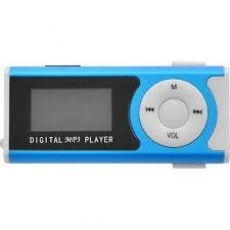 LAMTECH DIGITAL MP3 PLAYER 16GB WITH FM RADIO BLUE
