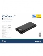PLATINET POWER BANK 10000 mAh POLYMER PORTABLE LCD BLACK + microUSB cable
