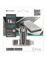 PLATINET iOS PENDRIVE USB 3.0 16GB + LIGHTNING PLUG FOR iPAD&iPHONE8